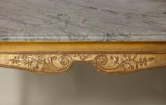 George I Gesso Carved Marble Top Table - 663753
