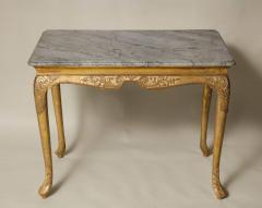 George I Gesso Carved Marble Top Table - 663754