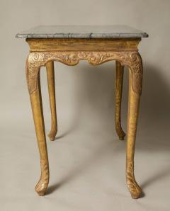 George I Gesso Carved Marble Top Table - 663760