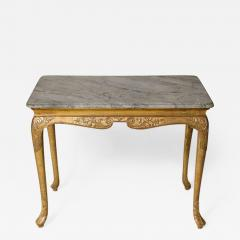George I Gesso Carved Marble Top Table - 664457