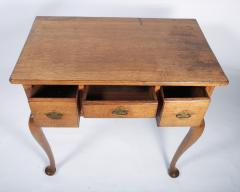 George I Oak Three Drawer Table - 1809159