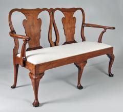 George I Walnut Double Chair Back Settee - 1237096