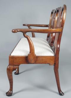 George I Walnut Double Chair Back Settee - 1237097