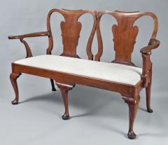 George I Walnut Double Chair Back Settee - 1237098