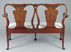 George I Walnut Double Chair Back Settee - 1237099