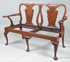 George I Walnut Double Chair Back Settee - 1237101