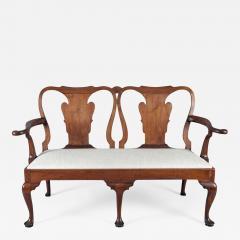 George I Walnut Double Chair Back Settee - 1238585