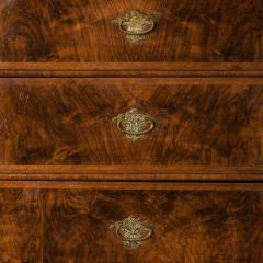 George I burr walnut cabinet on chest - 818777