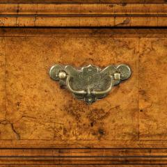 George I burr walnut cabinet on chest - 818778