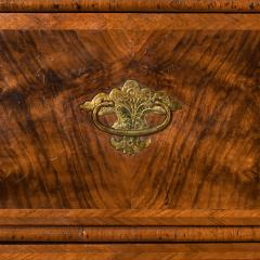 George I burr walnut cabinet on chest - 818779