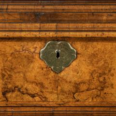 George I burr walnut cabinet on chest - 818782