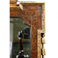 George II Giltwood Burl Elm and Marquetry Mirror - 1532688