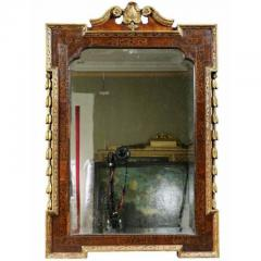 George II Giltwood Burl Elm and Marquetry Mirror - 1532690