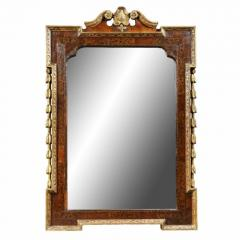 George II Giltwood Burl Elm and Marquetry Mirror - 1532692