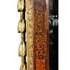 George II Giltwood Burl Elm and Marquetry Mirror - 1532693