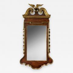 George II Scrolled Arch Parcel Gilt Mirror - 581136