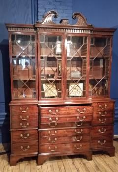 George III Breakfront Bookcase with Secretaire Drawer - 300122