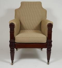 George III English Regency Mahogany Bergere - 790714