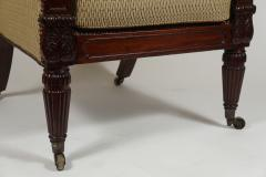 George III English Regency Mahogany Bergere - 790718