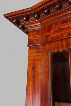 George III Mahogany Bow Front Secretary Bookcase in the style of Seddon Sons - 1005845