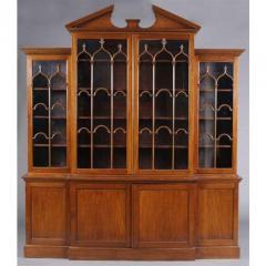 George III Mahogany Breakfront Bookcase - 1532639