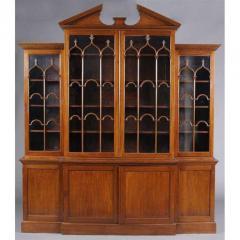 George III Mahogany Breakfront Bookcase - 1532641
