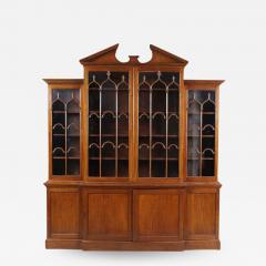 George III Mahogany Breakfront Bookcase - 1533673
