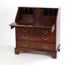 George III Mahogany Slant Front Desk c 1760 70 - 2048537