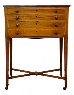 George III Mahogany Work Table circa 1790 - 1296743