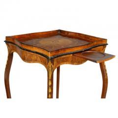 George III Mahogany and Inlaid Kettle Stand - 1532360