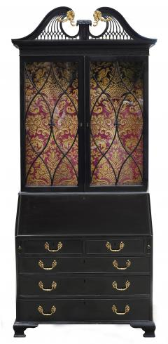 George III Parcel Gilt Secretary Bookcase with Provenance - 763741