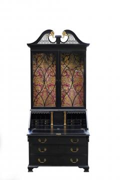 George III Parcel Gilt Secretary Bookcase with Provenance - 763744