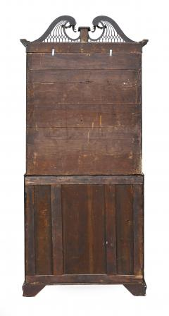 George III Parcel Gilt Secretary Bookcase with Provenance - 763748