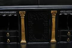 George III Parcel Gilt Secretary Bookcase with Provenance - 763771