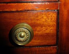 George III Period English Mahogany Drop Leaf Side Work Table - 874962