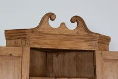 George III Pine Corner Cupboard - 2057122