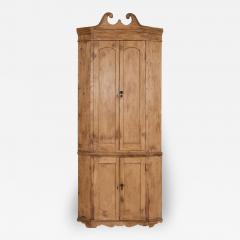 George III Pine Corner Cupboard - 2059793
