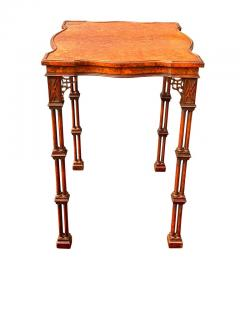 George III Style Burl Walnut and Mahogany China Table Attributed to Gillow - 1736127