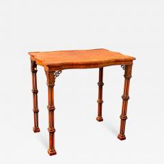 George III Style Burl Walnut and Mahogany China Table Attributed to Gillow - 1736581