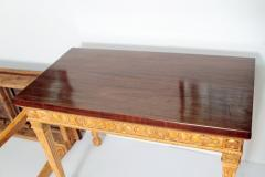 George III Style Giltwood and Mahogany Console Tables Pair - 1983885