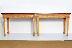 George III Style Giltwood and Mahogany Console Tables Pair - 1983890