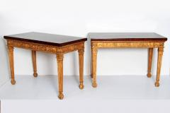 George III Style Giltwood and Mahogany Console Tables Pair - 1983891