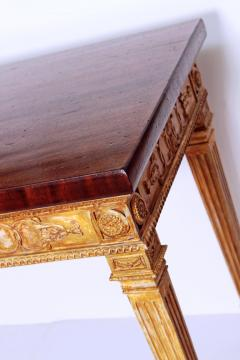 George III Style Giltwood and Mahogany Console Tables Pair - 1983892