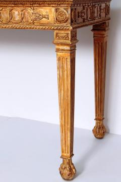 George III Style Giltwood and Mahogany Console Tables Pair - 1983894