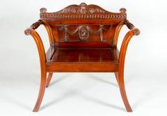 George III Style Mahogany Hall Chair - 1368612