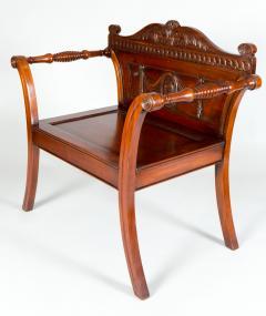 George III Style Mahogany Hall Chair - 1368621