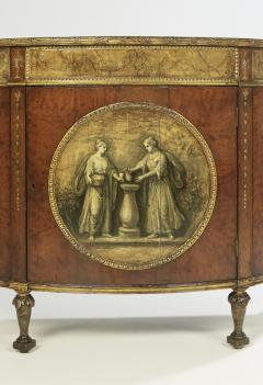 George III Style Painted Demi Lune Cabinet - 55152