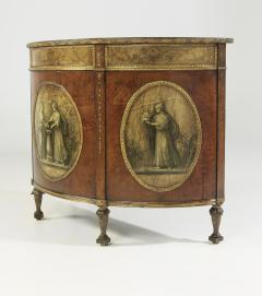 George III Style Painted Demi Lune Cabinet - 55153