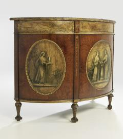 George III Style Painted Demi Lune Cabinet - 55154