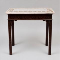 George III carved mahogany fretwork table - 1387321